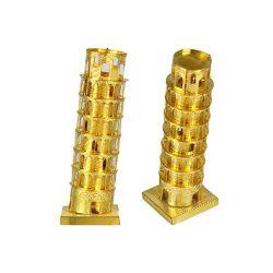 3D пазл металлический Пизанская башня Золотая