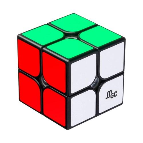 Кубик Рубика 2x2 MoYu MGC Магнитный Чёрный