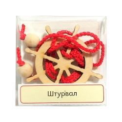Верёвочная мини-головоломка Штурвал