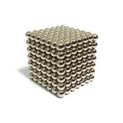 Неокуб NeoCube Серебристый 7x7x7, 343 шарика