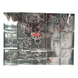 Набор из 24 металлических головоломок IQ Metall Puzzle