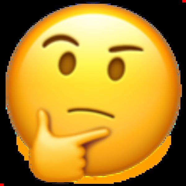 thinking face emoji know