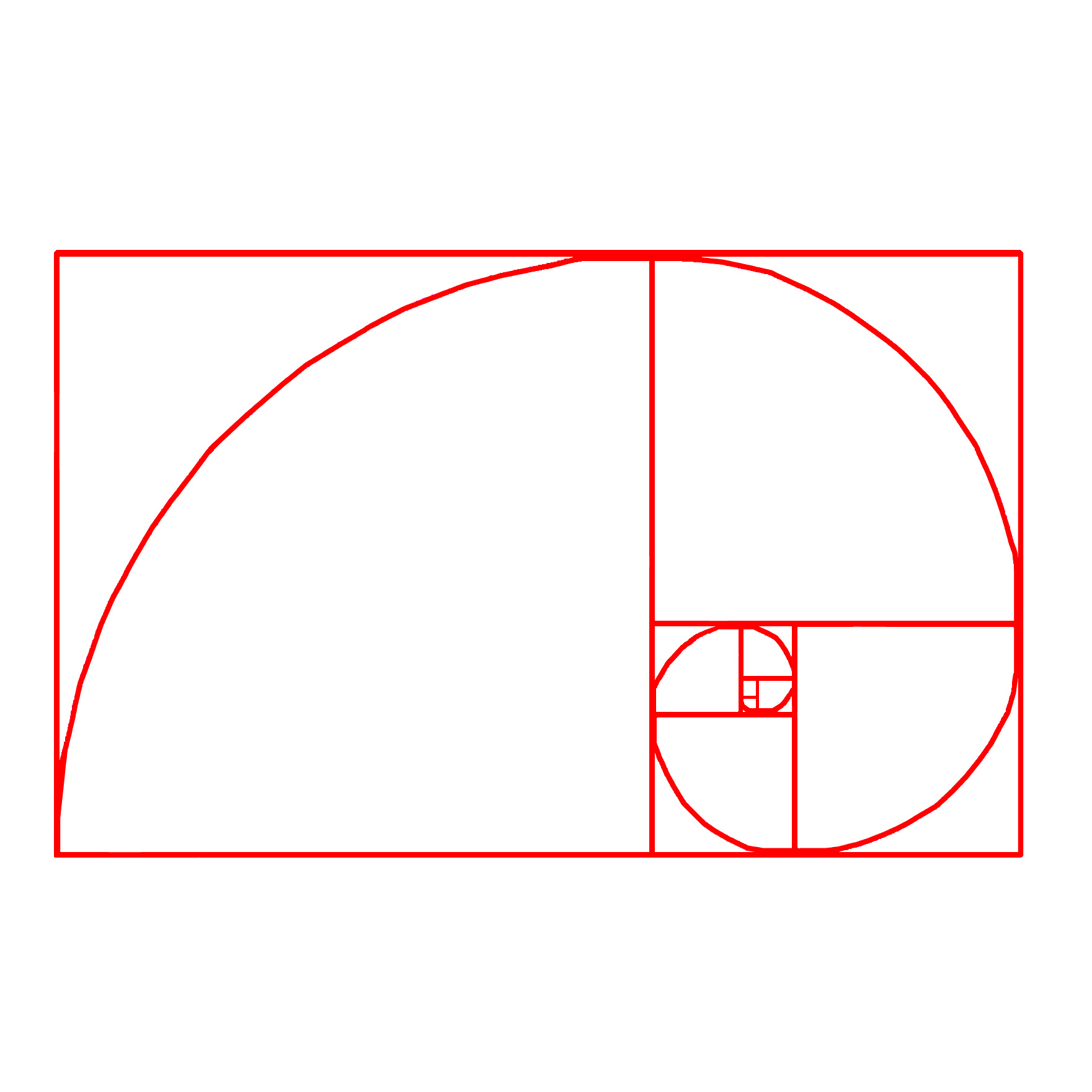 hight resolution of the golden ratio
