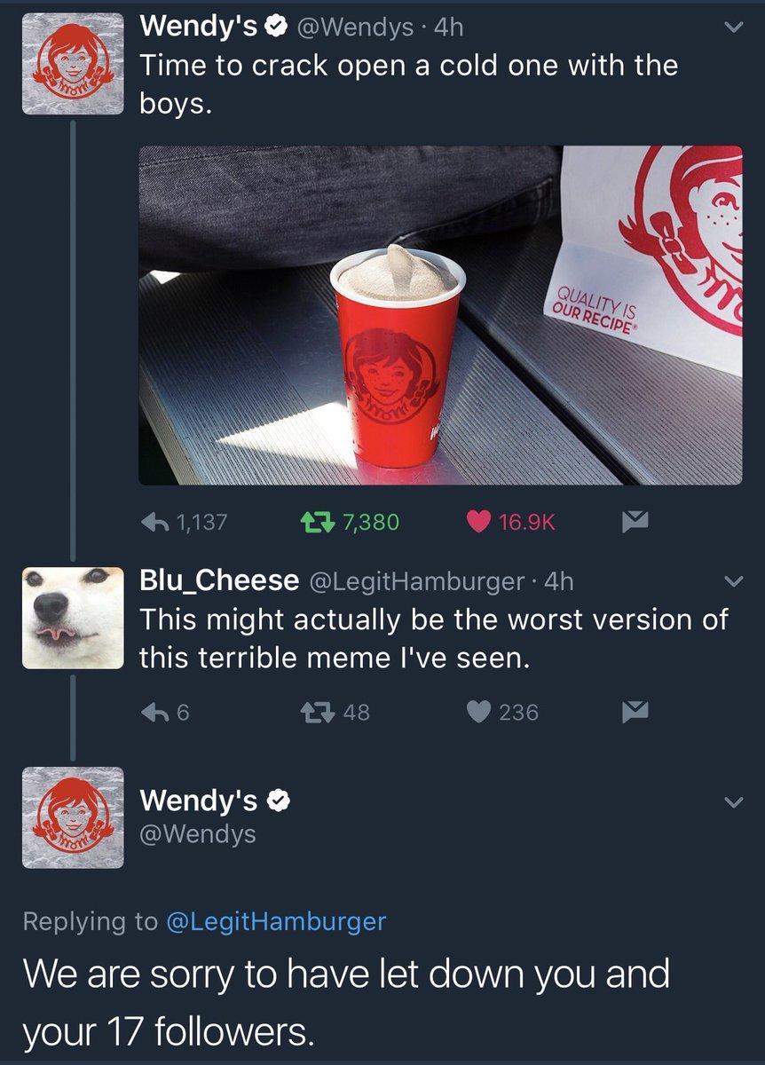 17 followers wendys know