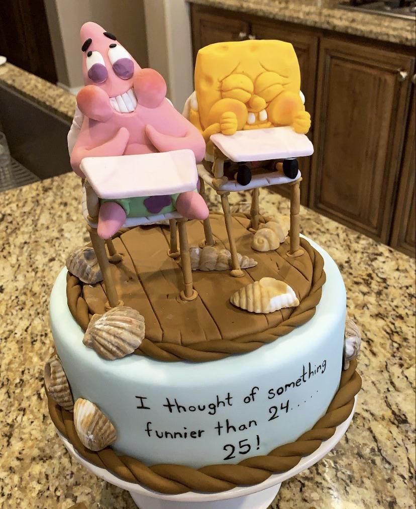 Spongebob Cake Meme : spongebob, Today's, Birthday,, Husband, Pastry, /r/BikiniBottomTwitter, SpongeBob, SquarePants