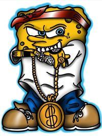 Iced Out Spongebob : spongebob, Gangster, SpongeBob