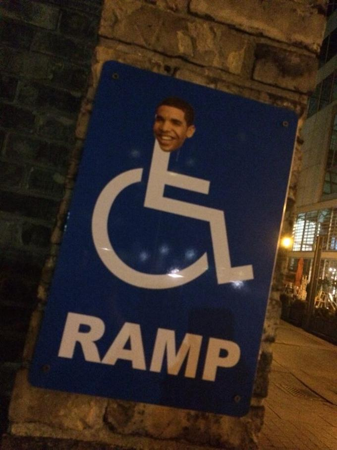 wheelchair jimmy meme contemporary grey leather dining chairs drake know your ramp brooks toronto