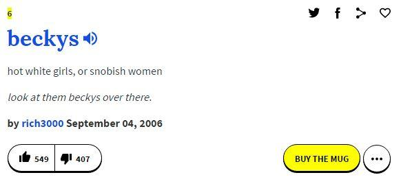 urban dictionary definition becky