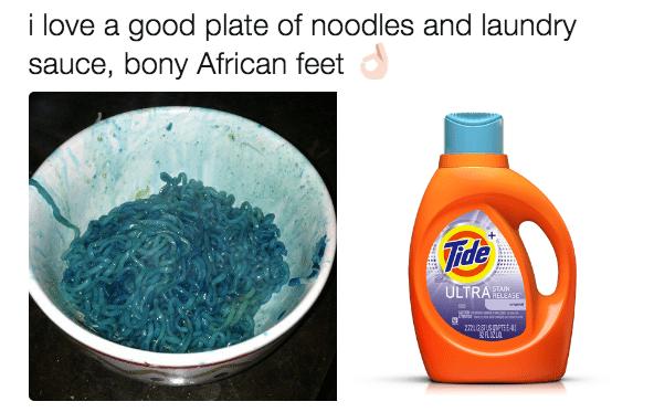 bony african feet laundry