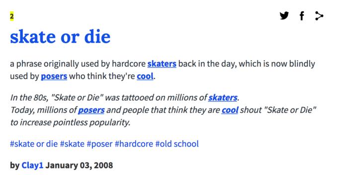 skate or die know