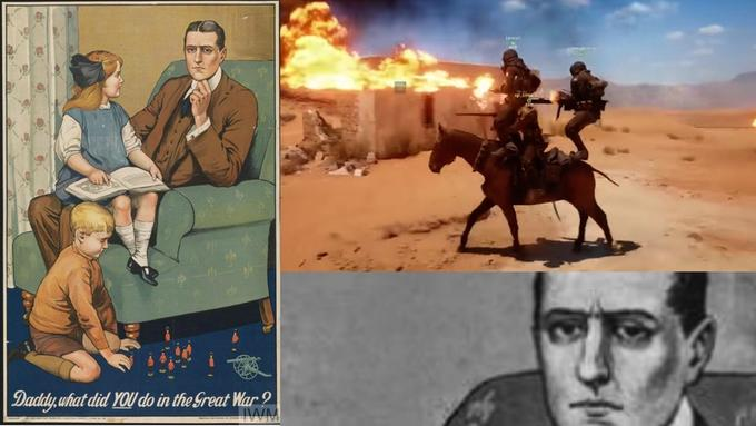 Daddy,uhat did YOU do in the Sreat War First World War horse like mammal poster