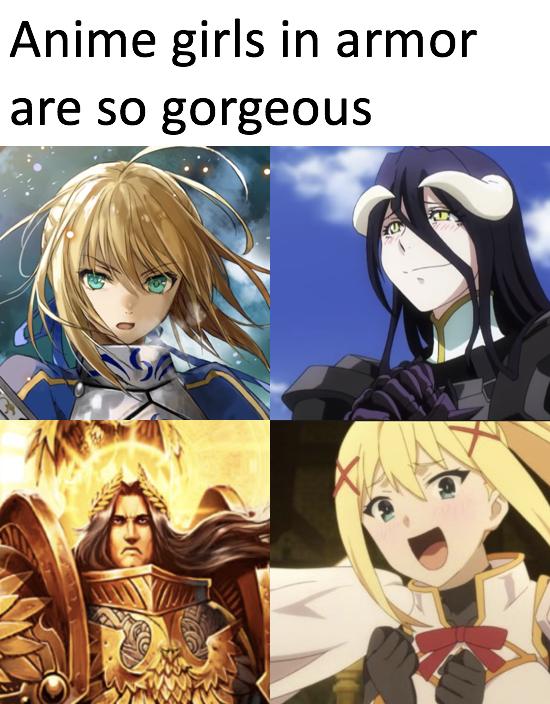 Anime Girls Meme : anime, girls, Anime, Girls, Armor, Simply, Gorgeous, Comparison, Parodies