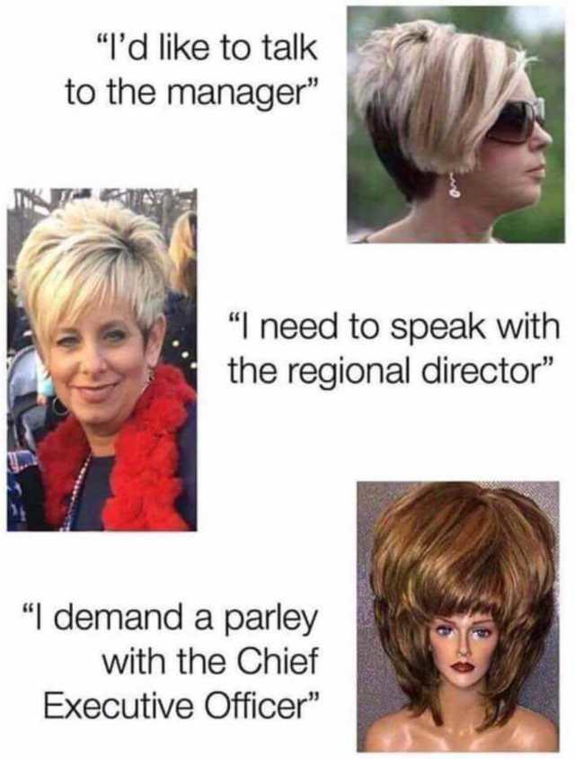 Let Me See Your Manager Haircut : manager, haircut, Memes, Karen,, Infamous,