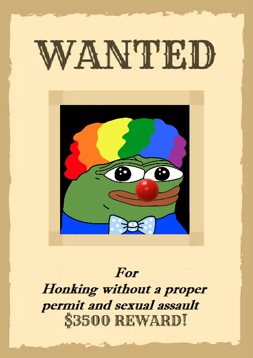 Honk Pepe : Wanted, Clown, World