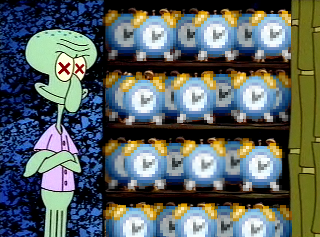Squidward S Clock Closet Know Your Meme