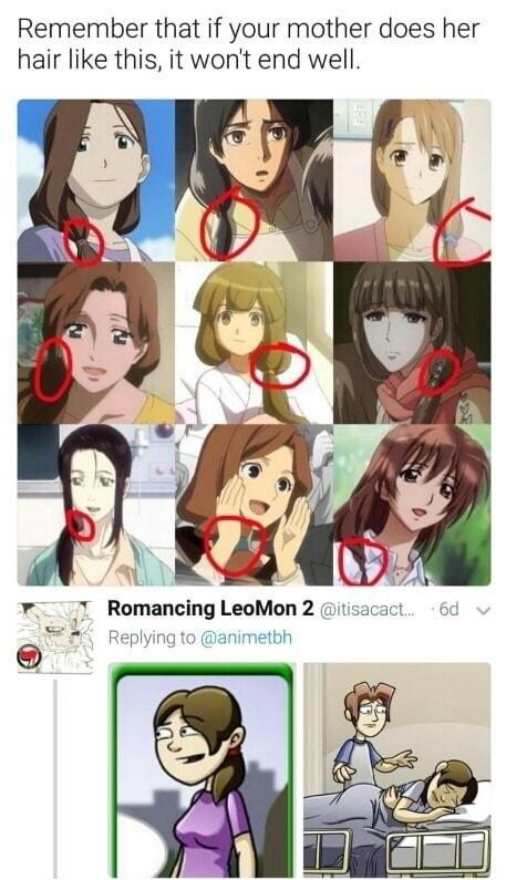 Anime Dead Mom Hair : anime, Anime