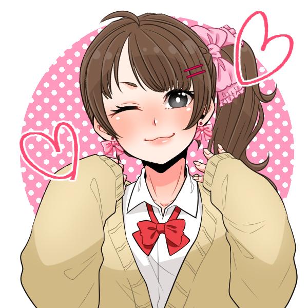Cartoon Hair Anime Pink Cheek Brown hair Illustration Ear Lip