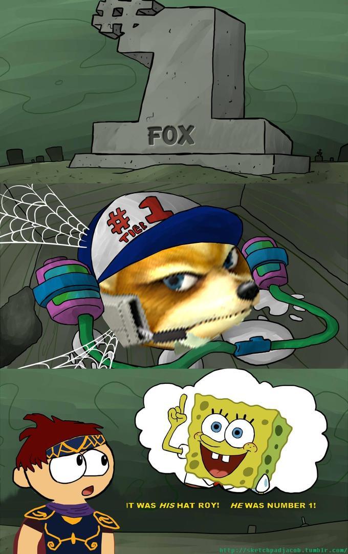 FOX 23 TIER IT WAS HIS HAT ROY! HE WAS NUMBER 1! http://sketchpadjacob.tumblr.com/ Super Smash Bros. Melee Cartoon