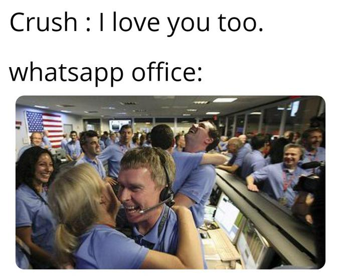 Crush :I love you too. whatsapp office: People Crowd Community Passenger