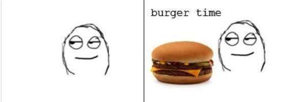 burger time Food Bun Gesture Recipe Sandwich Smile Ingredient Fast food Hamburger Font Happy Baked goods