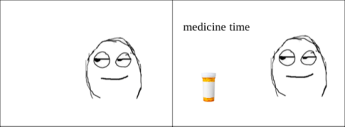 medicine time Eyebrow Human body Rectangle Gesture Smile Font Happy