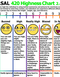 Universal highness chart for assessing how high the inidual is using textual summaries also marijuana stoner know your meme rh knowyourmeme