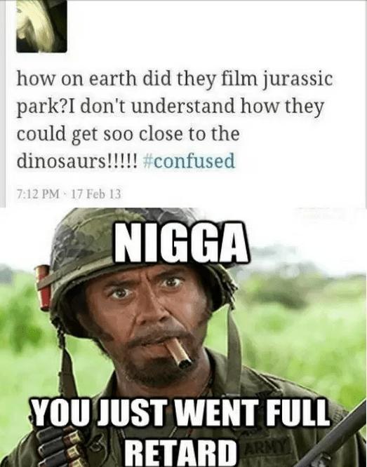 Never Go Full Retard Meme : never, retard, Jurassic, Comment, Retard