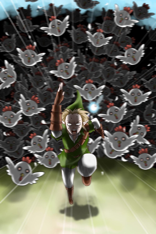 Zelda Chicken Attack Gif : zelda, chicken, attack, Download, Zelda, Chicken, Attack