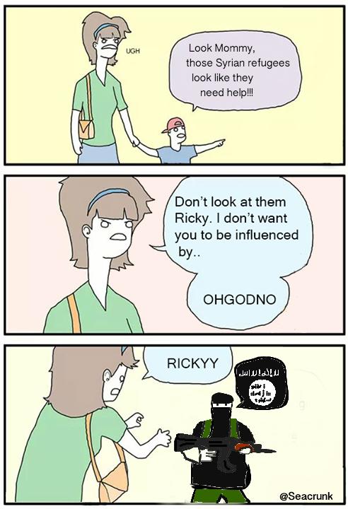Dont Look Meme : Ricky, Refugee, Don't, Ricky!