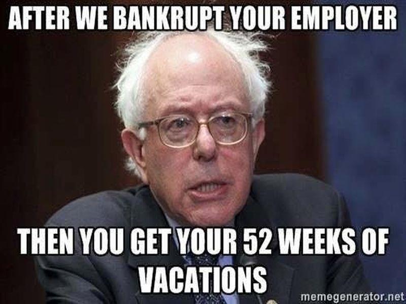 Endless Vacation Bernie Sanders Know Your Meme