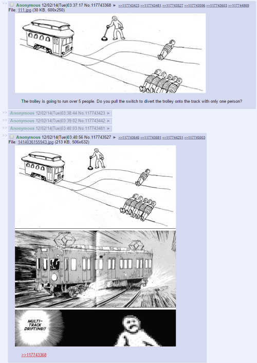 Multi Track Drifting The Trolley Problem Know Your Meme