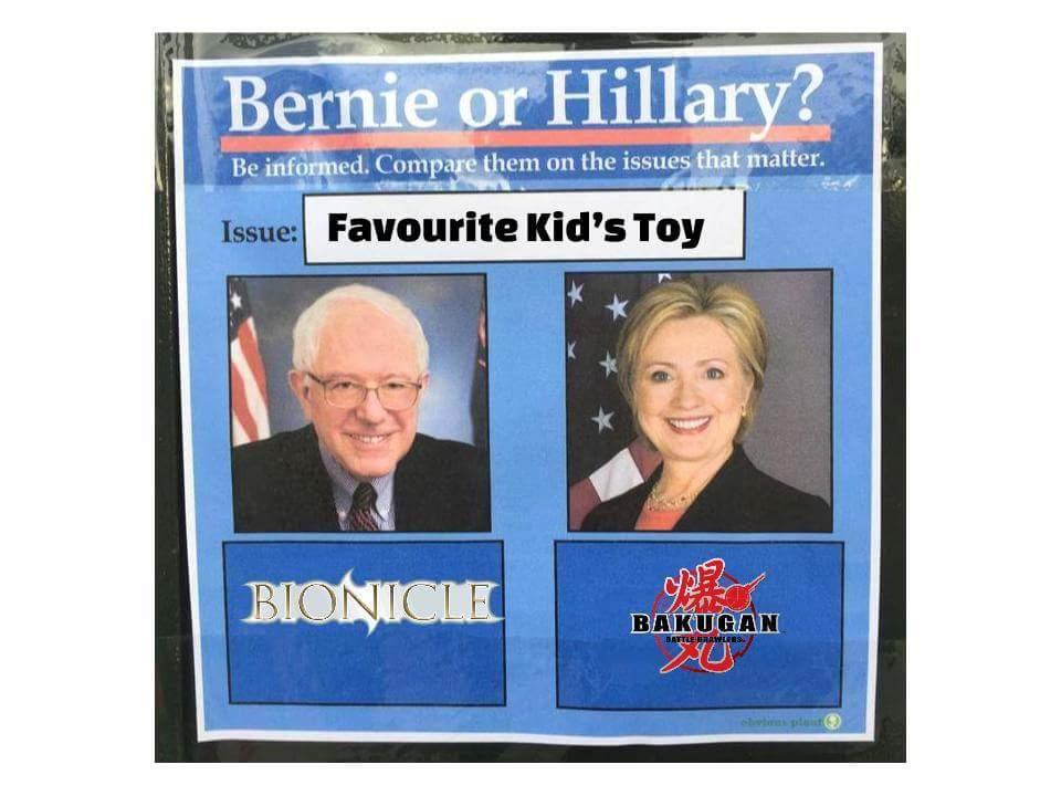 bernie vs hillary favorite