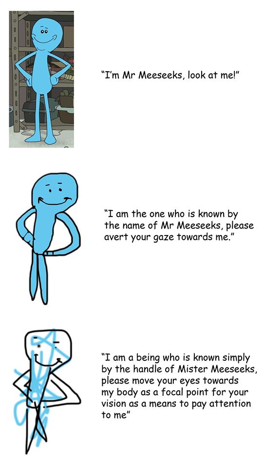 Mr Meeseeks Meme : meeseeks, Increasingly, Verbose, Meeseeks, Memes