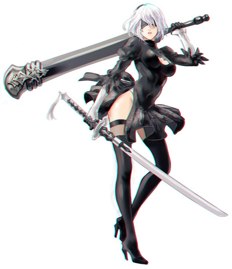Nier Automata Nier Weapon Anime Fictional Character Cold Weapon
