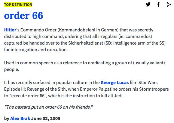 urban dictionary order 66