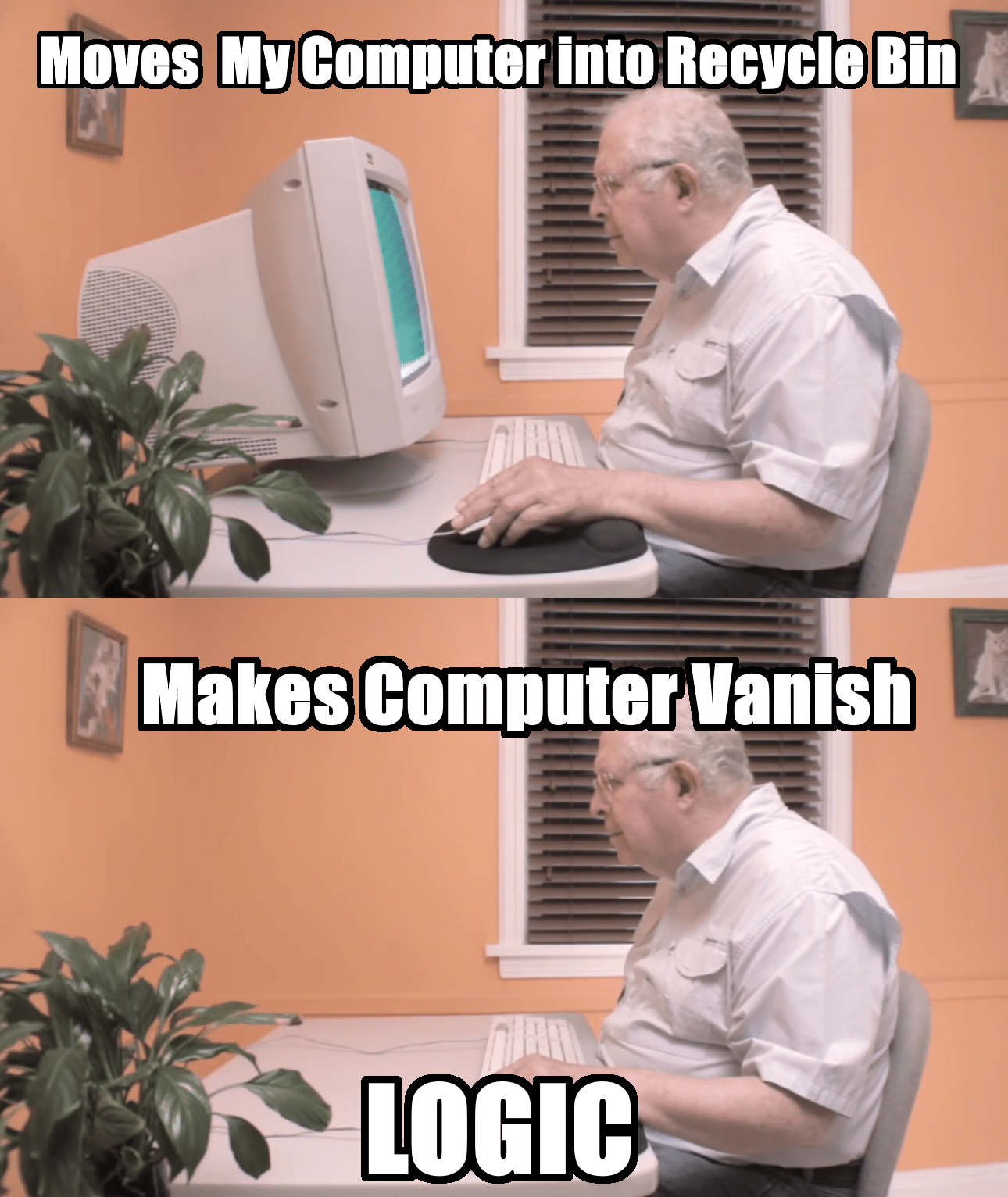put my computer into