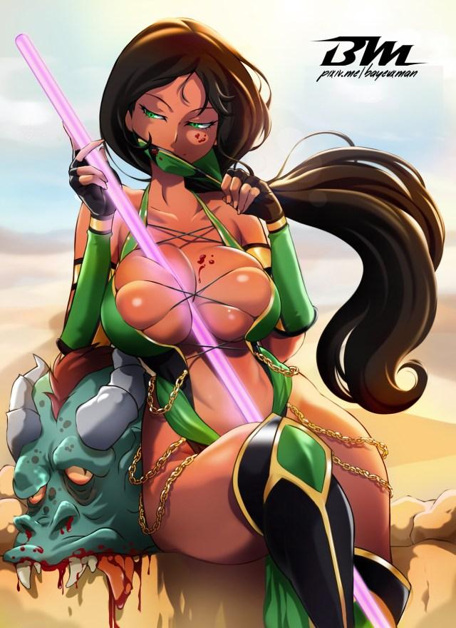 Kitana Jade Mileena Shao Kahn Cartoon Human Hair Color Fictional Character Black Hair Anime Fiction Cg