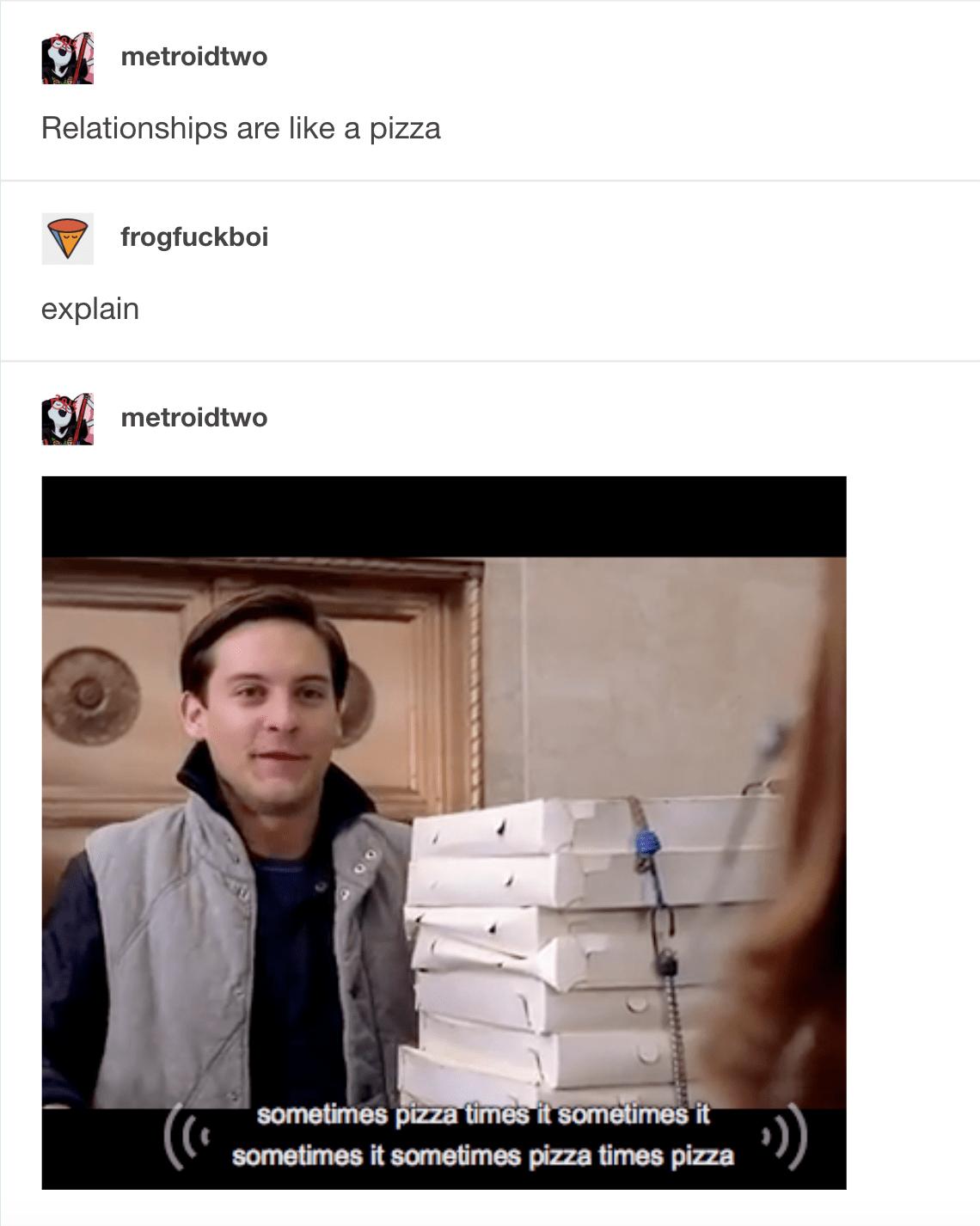 Pizza Time Spiderman Meme : pizza, spiderman, Husnain, Alston:, Spider, Pizza