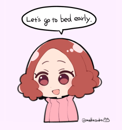 lets go tro bed eorly face pink nose cheek facial expression text skin smile cartoon child [ 1000 x 1000 Pixel ]