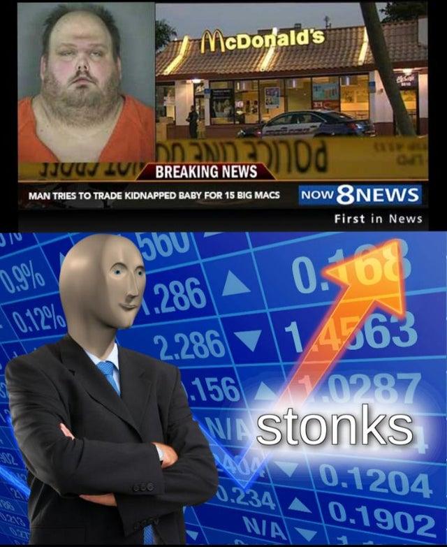 Big News Meme : Mcdonalds, Stonks