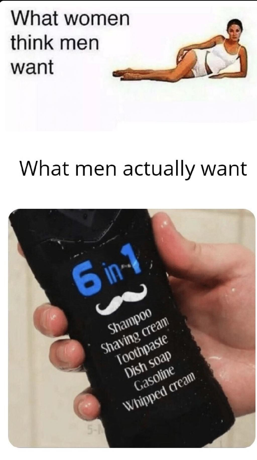 6 In 1 Shampoo Meme : shampoo, Shampoo, R/memes