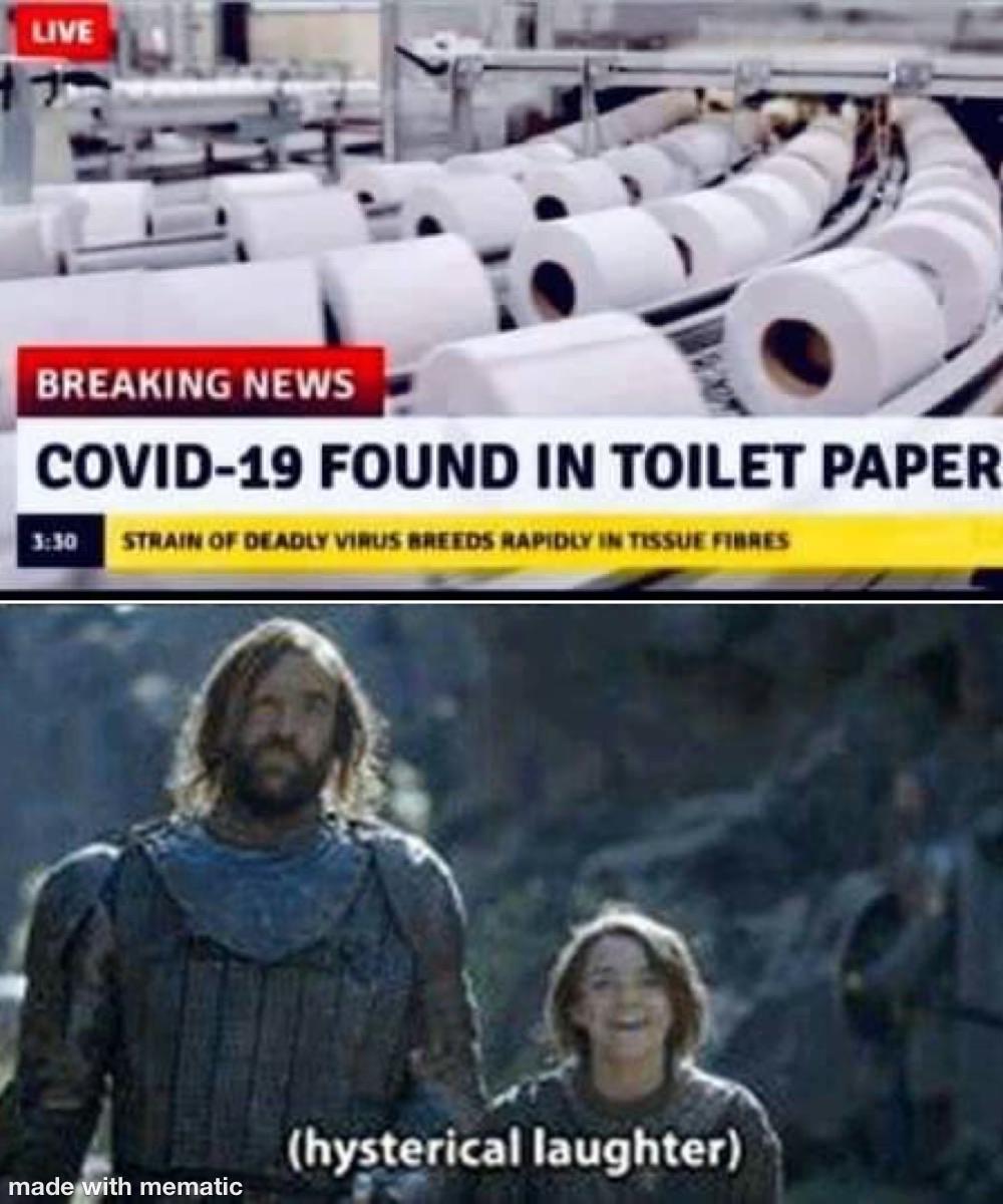 Enough said | /r/memes | Toilet Paper Hoarding | Know Your Meme