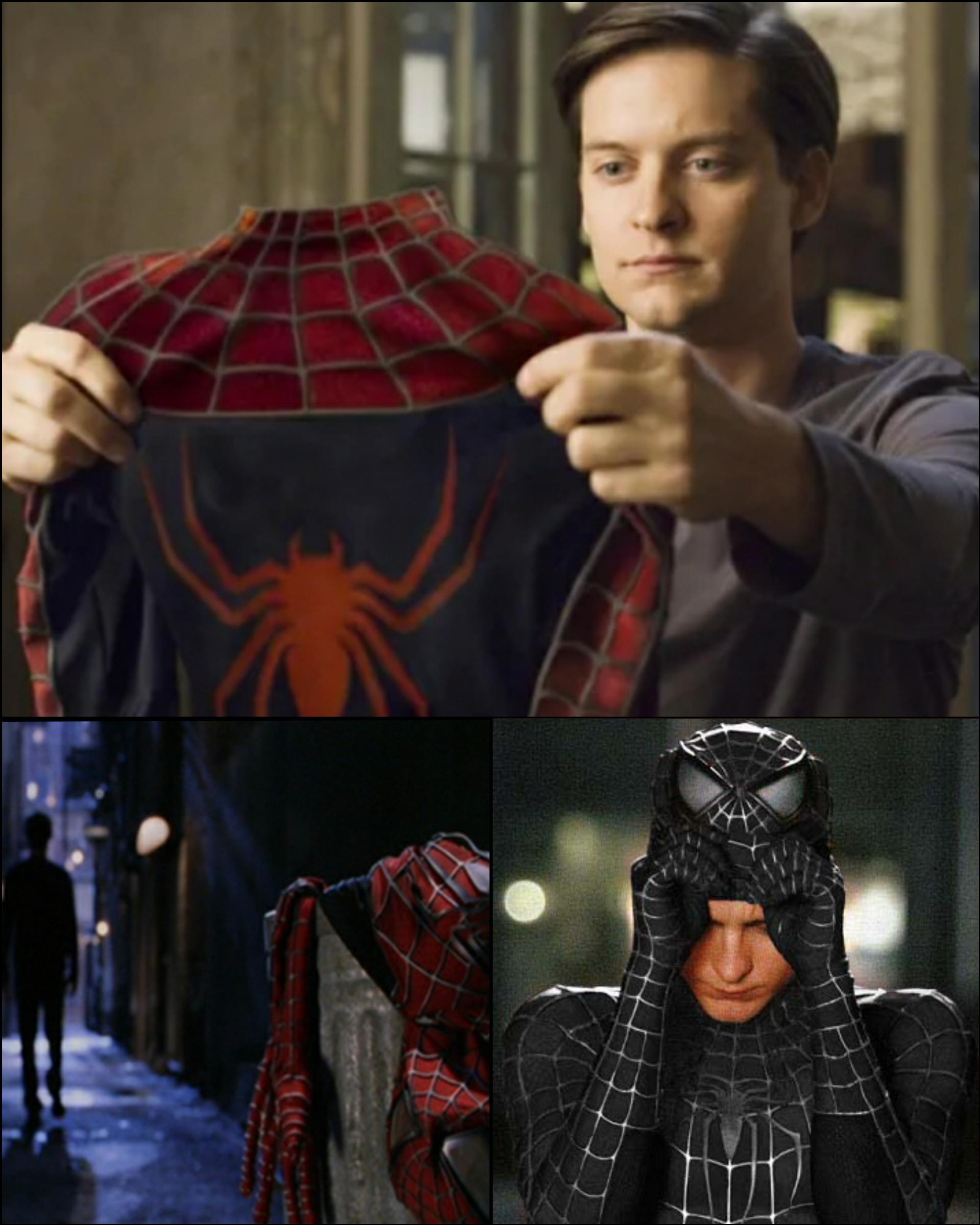 Spiderman 2 Meme : spiderman, Template, Spider-Man, Throwing, Classic, Costume, Putting, Black