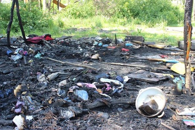 Последствия нападения на цыганский табор у Львова.