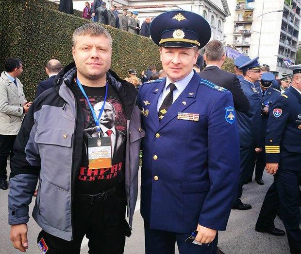 Неманья Рустич и военный атташе РФ в Сербии Андрей Киндяков