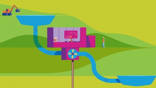 schéma station de pompage