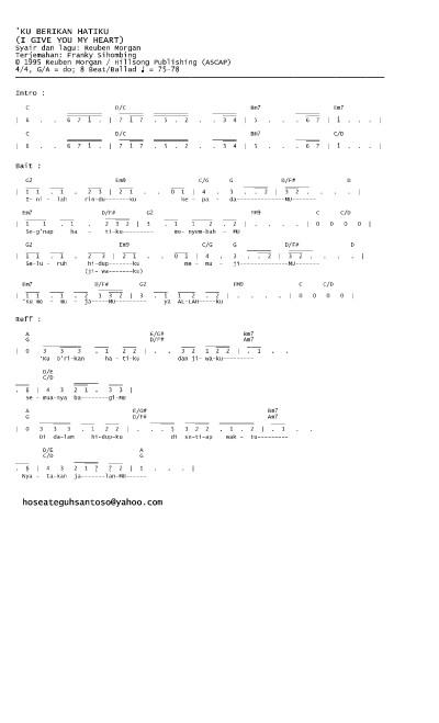 Lirik Ku Brikan Hatiku : lirik, brikan, hatiku, Kuberikan, Hatiku, (Inilah, Rinduku, Kepada, MU....), Angka, Lirik, Chord, Partitur, Lensdump