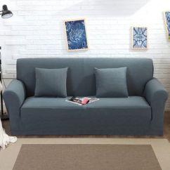 Fundas Para Sofa En Peru Chicago Stickley Compra Funda De Color Solido Tejido Punto Gris Oscuro