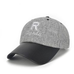 Gorra de béisbol con adornos letras color Gris oscuro