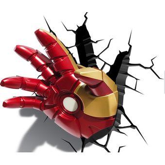 Compra Lampara Decorativa Pared 3D Light Iron Man Mano